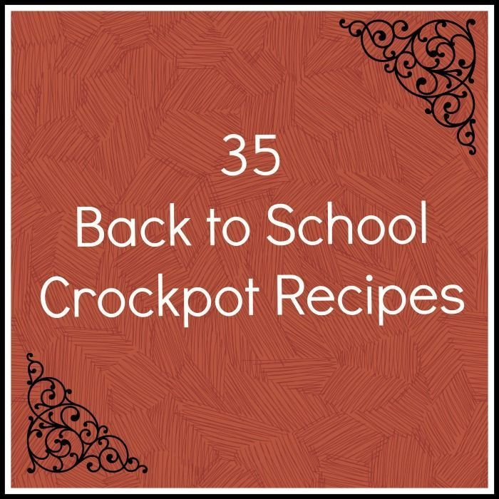 35 Back to School Crockpot recipes make life easier when it gets busy. So many great options for all meals! // A Cedar Spoon