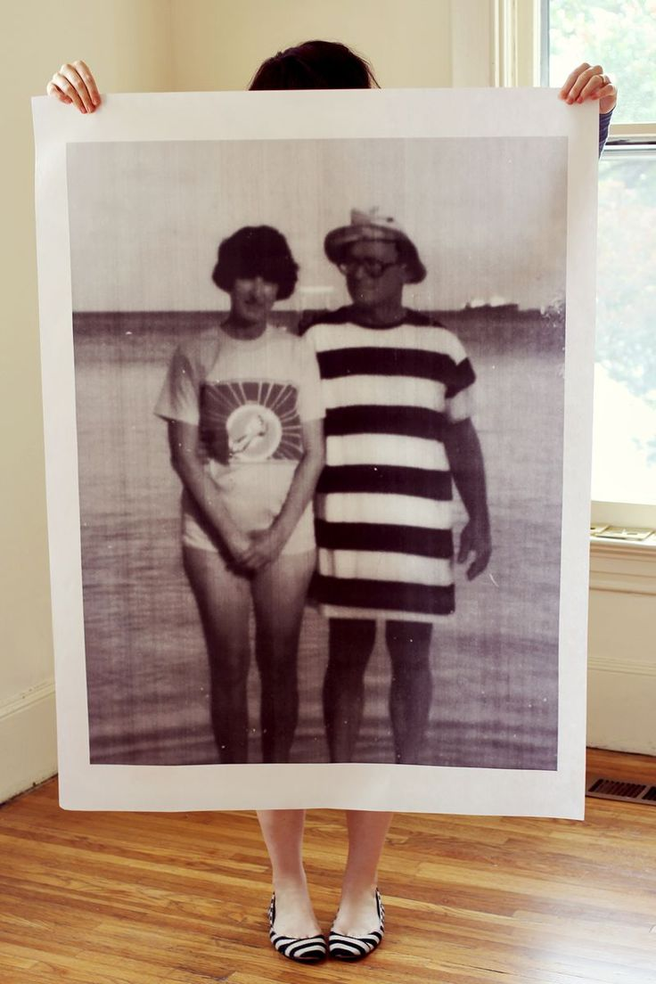 Blueprint copies for DIY family photo posters (via A Beautiful Mess)