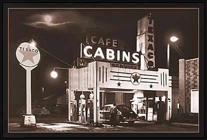 Vintage cafe signs