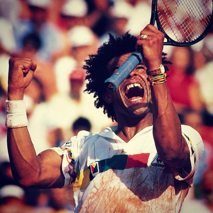 Yannick NoahOldtimer Sports, Court Couture, Favorite Athletic, Classic Tennis, Vintage, Games Sets, Sports Legends, Childhood Crushes, John Mcenroe