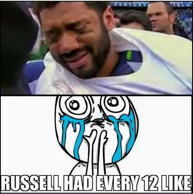 We are all crying there with you Russ!