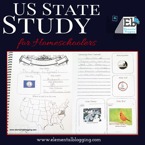 *FREE* U.S. State Study Notebooking Pages