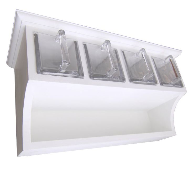 Kökshylla med fyra glaslådor - Sekelskifte