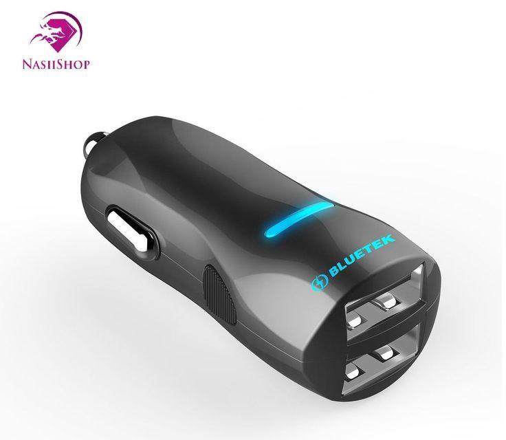 Caricabatteria da Auto con Tecnologia BLUETEK™ , 2.4A +2.4A doppia uscita.