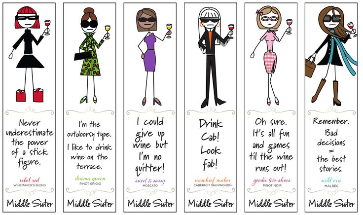 Save your spot! With Middle Sister Wines Bookmarks