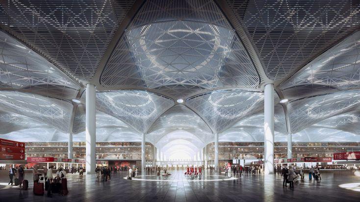 """Um trio de arquitetos internacionais foram nomeados para projetar o complexo terminal para o """"Novo Aeroporto de Istambul""""."""