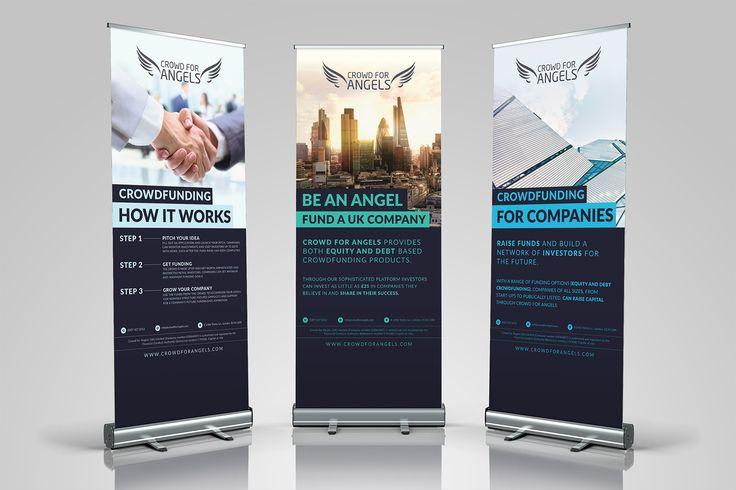 Crowd for Angels roller banners, roller banner, modern design, Proper Colors
