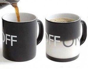 on/off coffee mug! >> So fun!