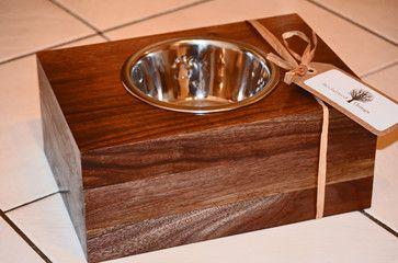 Reclaimed Wood Pet Feeder eclectic-pet-supplies