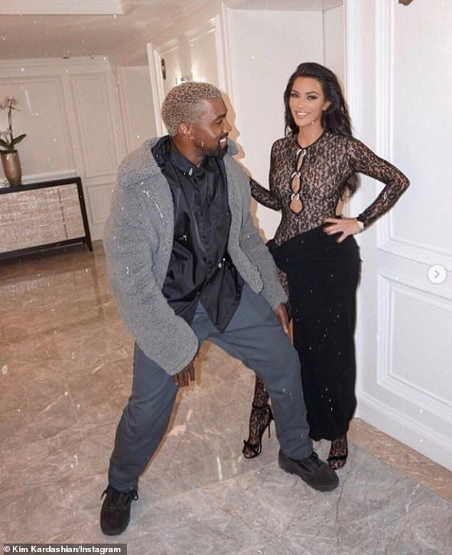 Kim Kardashian And Kanye West Are All Smiles In Playful Throwback Snap In 2020 Kim Kardashian And Kanye Kim K And Kanye Kim And Kanye
