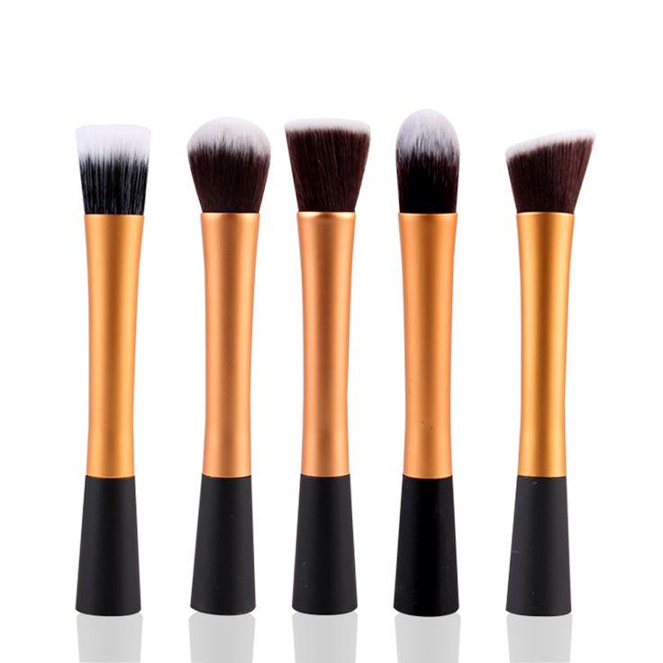 5 peças ouro / preto macio cabelo sintético profissionais práticos Kits de ferramentas de maquiagem mulheres macio escovas da composição Cosmetic Set 73818.01 em Acessórios de maquiagem de Health & Beauty no AliExpress.com   Alibaba Group