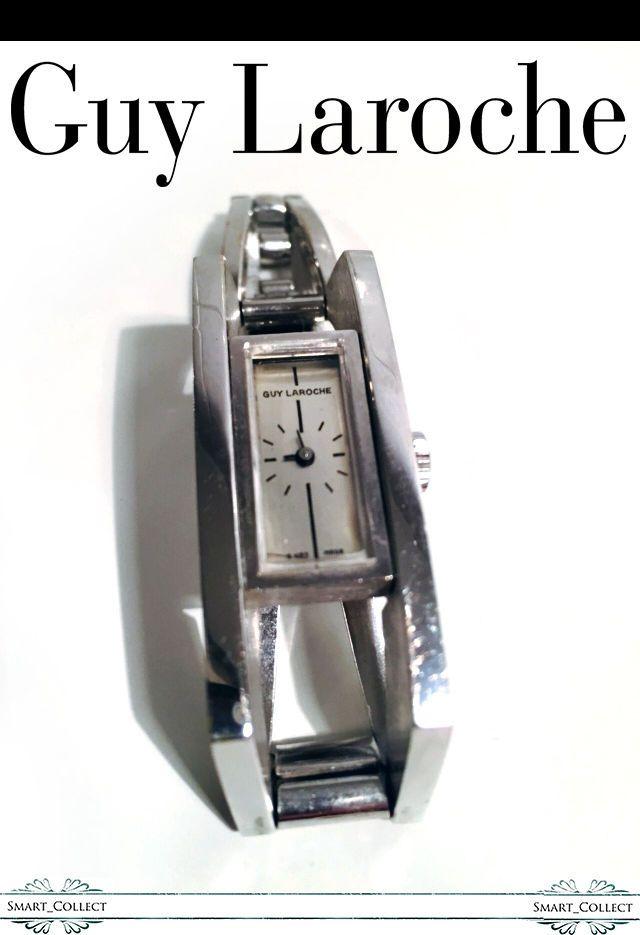 Guy Laroche Ladies' Polished Stainless Steel Watch Bracelet Deployment Clasp #GuyLaroche #Cuff