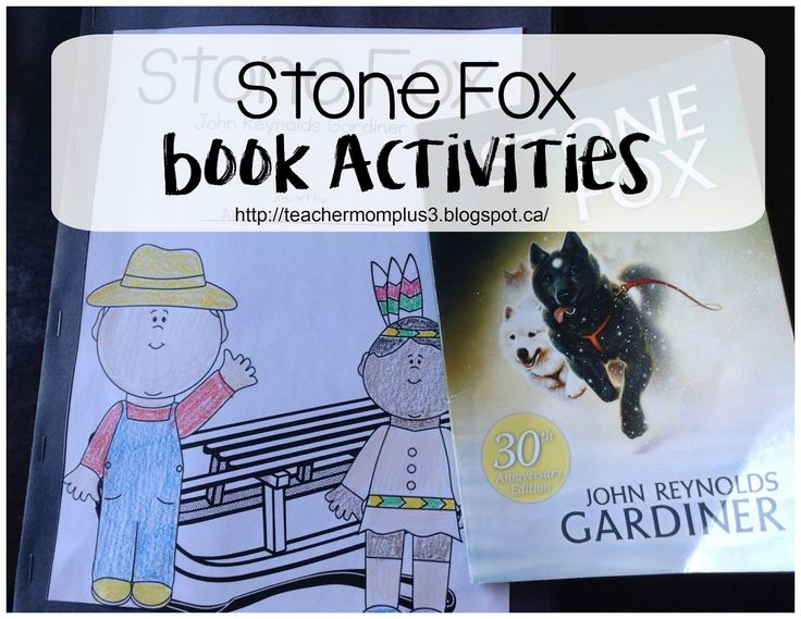 Hi guys! Today I wanted to share with you some of the activities that we did to go along with the book Stone Fox. My son really enjoyed...