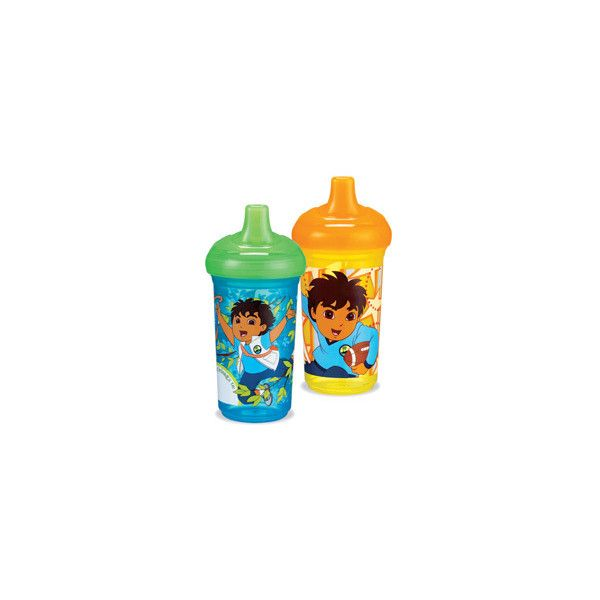 Go, Diego, Go! 9oz. Spill-Proof Cup- 2pk - babyearth.com (56 SEK) ❤ liked on Polyvore featuring baby and sippy cups