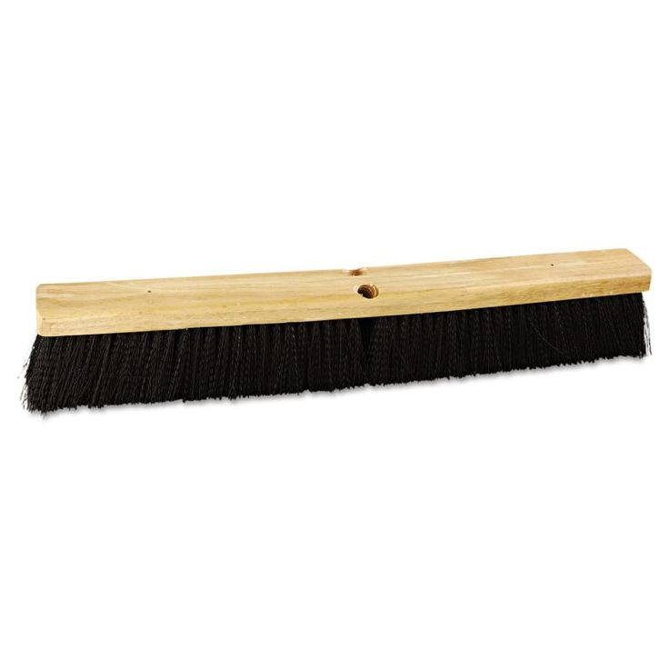 "Boardwalk BWK20624 Floor Brush Head 24"" Head Polypropylene Bristles Black Janitorial Supplies Cleaning Tools Broom Heads"
