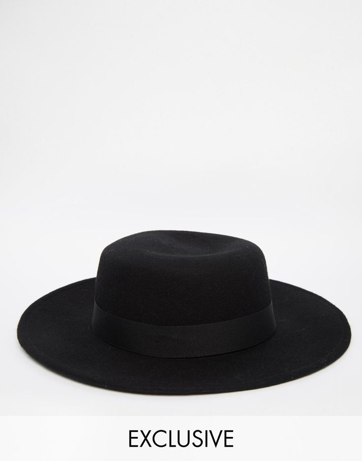 Reclaimed Vintage Wool Pork Pie Hat With Wide Brim