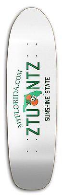 "ZtuntZ Skateboards ""Florida License Plate"" Park Old School Skateboard Deck 8.5"