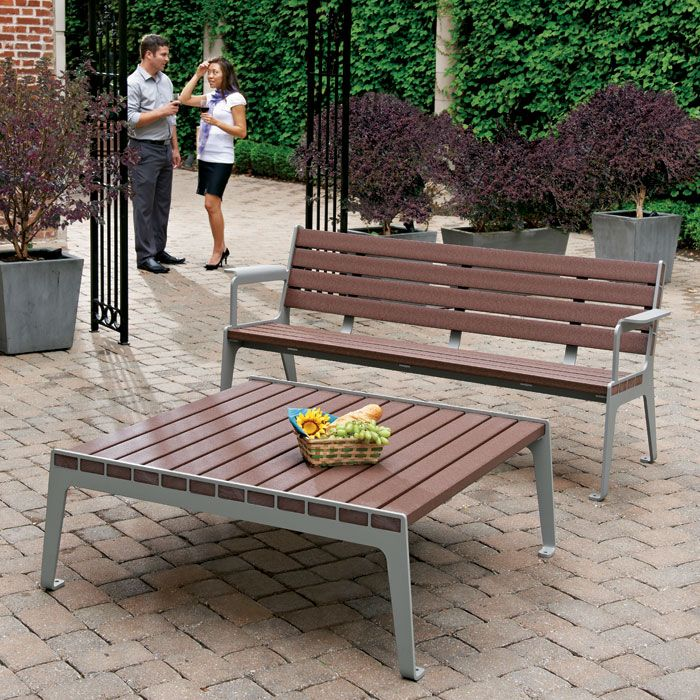 Great Madison Recycled Plastic Conversation Table | Picnic Tables | Upbeat.com