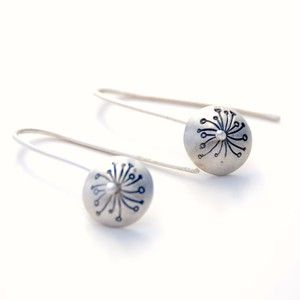 Dandelion ear rings by Rikke Kjelgaard