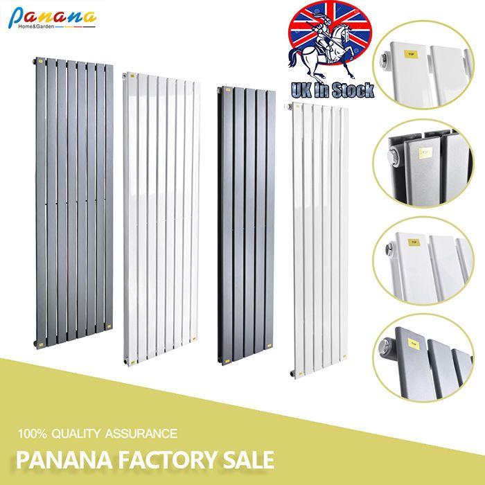Vertical Flat Panel Radiators Column Modern Designer Bathroom Central Heating