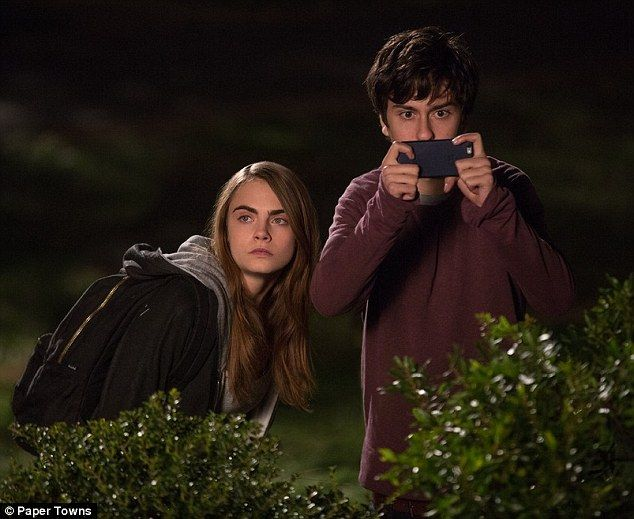 Big role: In the first images from the highly anticipated movie, Paper Towns, Cara Delevin...