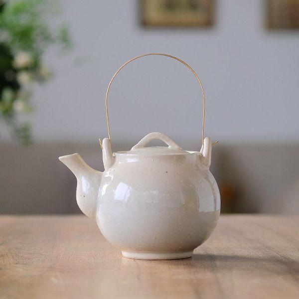 波佐見焼 土瓶/ラフホワイト | キッチン,ティー&コーヒー | オルネドフォイユWEBショップ
