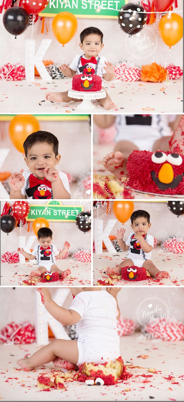 Elmo 1st birthday party ideas birthday party sesamestreet - Sesame Street Baby Cake Smash Photos By Brandie Narola Photography