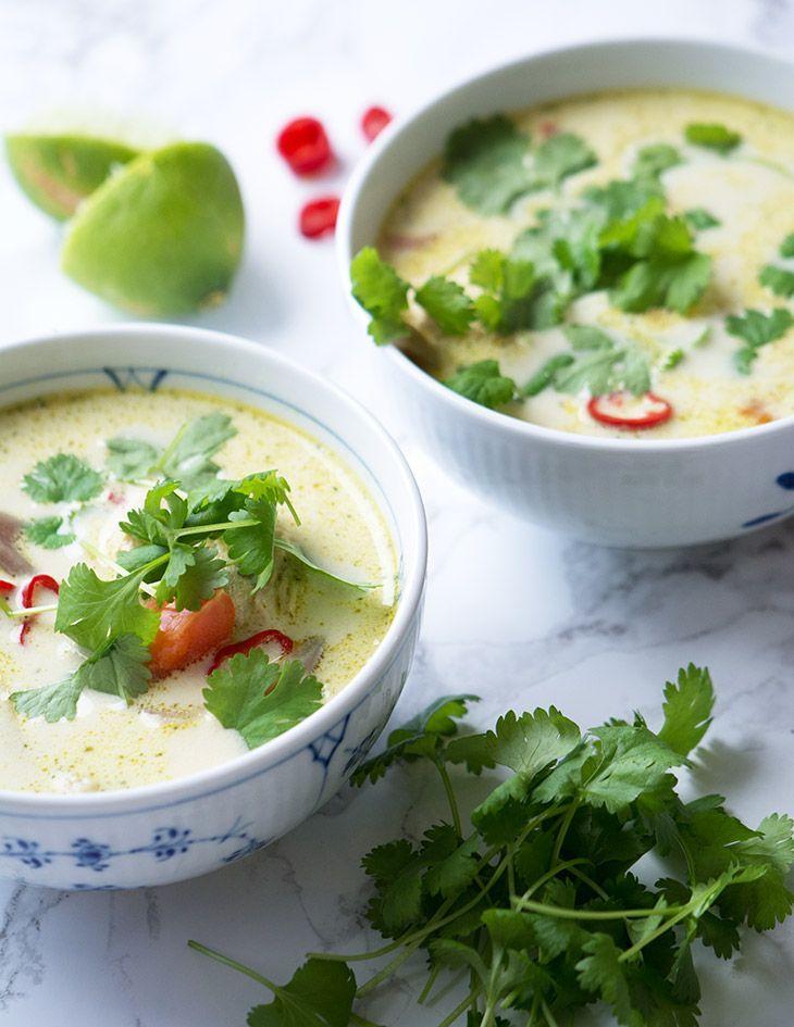 thaisuppe kylling kokosmælk