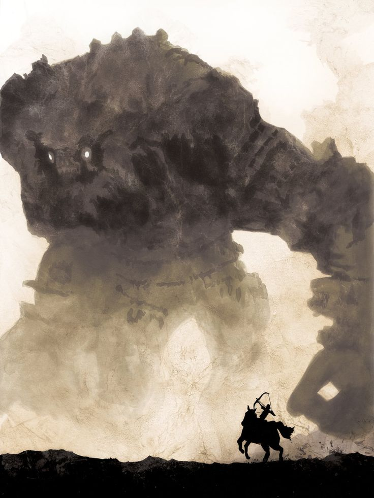 Shadow of the Colossus / sounds like an incredible game: Concept Art, Colossus, Illustration, Poster, Video Games, Videogames, Game Art, Shadows