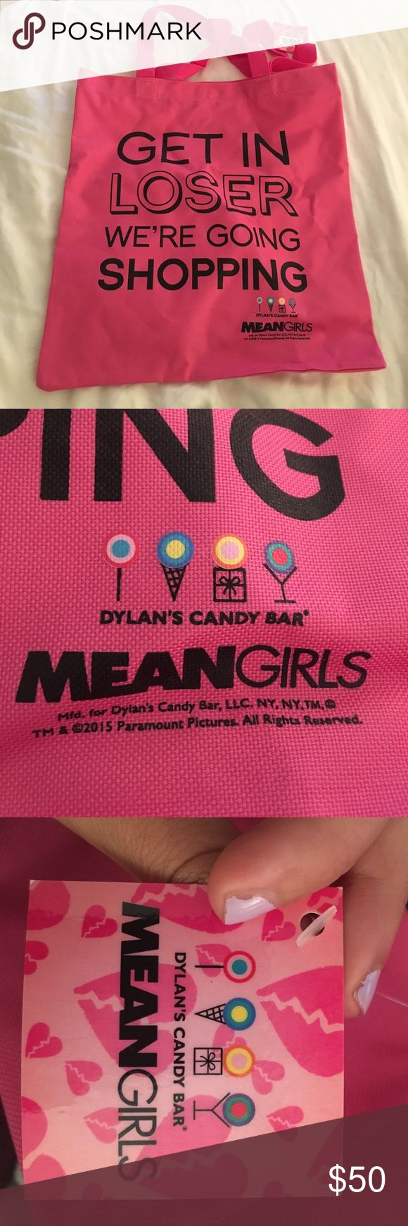 Mean Girls Tote Bag from NYC Dylan's Candy Bar Never used, new with tags Bags Totes
