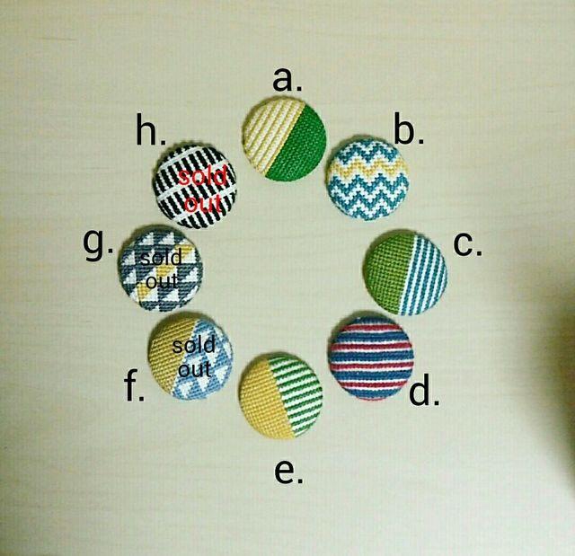 クロスステッチ刺繍のブローチorヘアゴム