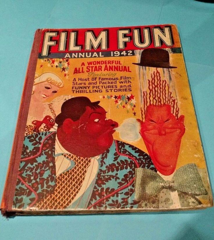 FILM FUN..War Time ANNUAL 1942.Rare ..Sydney Howard.BuckJones..Max Miller.etc