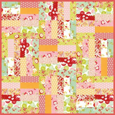 Jelly Roll Jam With Free Printable Pattern A Quilty Kind