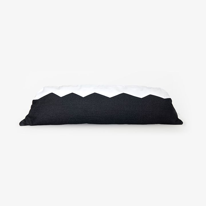 Lava Black Fjallgardur cushion by Markrún - Exclusively for The Loppist.
