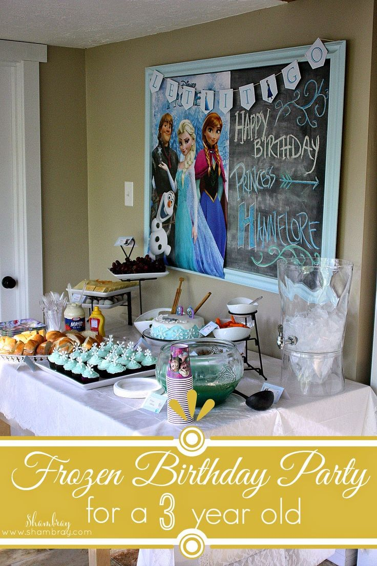A frozen birthday party for a 3 year old frozen birthday