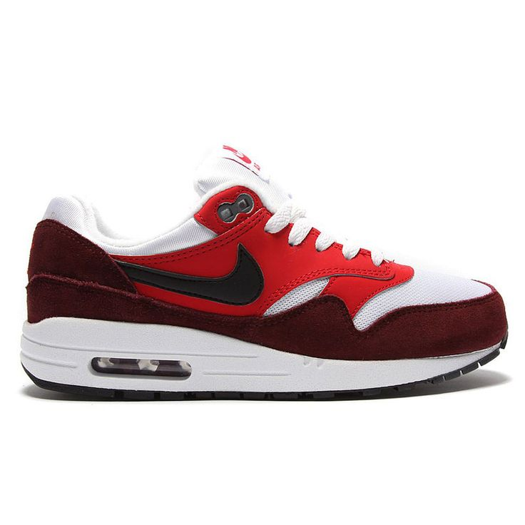 Kids Nike Air Max 1 Red White Trainers 555766-107 #Nike #Trainers