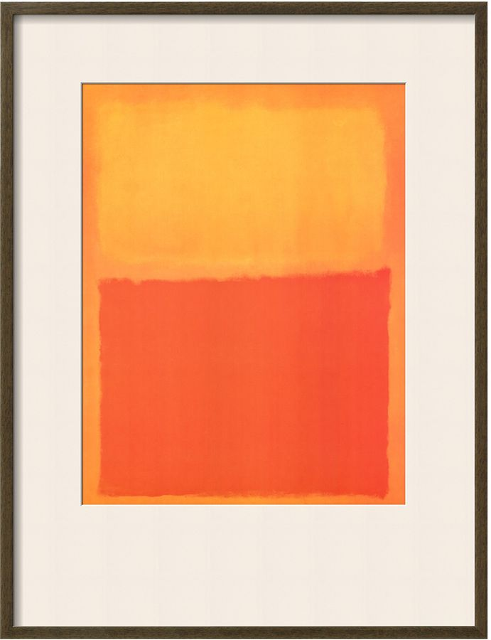 The Art Studio Orange and Yellow by Mark Rothko (Framed)
