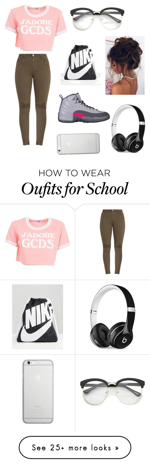 """Rate it 1-10 "" by arianaraygada on Polyvore featuring GCDS, ZeroUV, NIKE, Beats by Dr. Dre and Native Union"