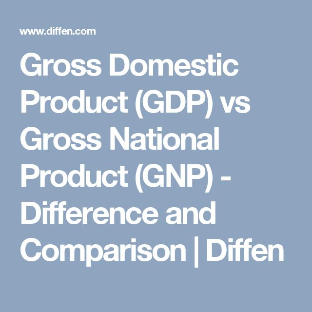 Gross Domestic Product (GDP) vs Gross National Product (GNP) - Difference and Comparison | Diffen
