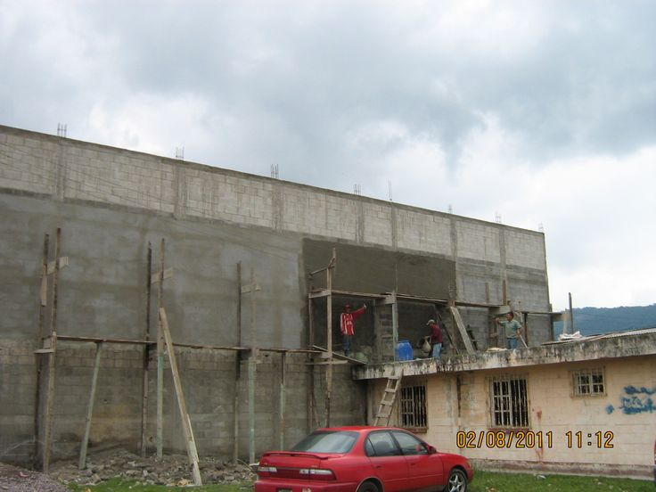 16 Finishing exterior wall of second floor and upper courtyard
