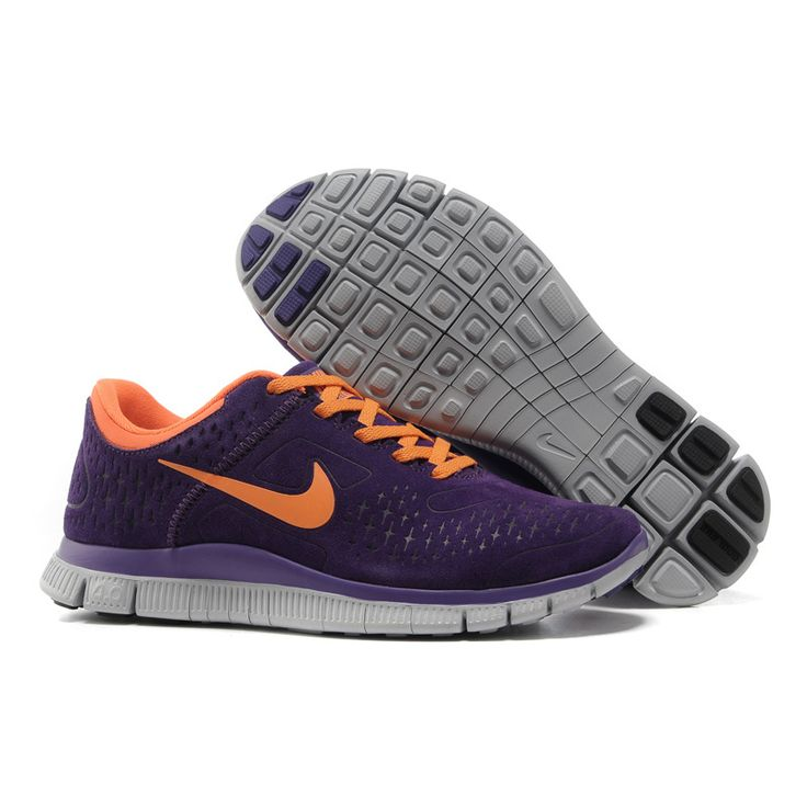 womens nike free run 4.0 purple orange