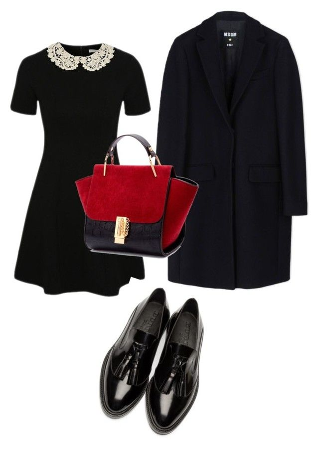 """h.k"" by hanika15 on Polyvore featuring George, Burberry, MSGM, women's clothing, women's fashion, women, female, woman, misses and juniors"