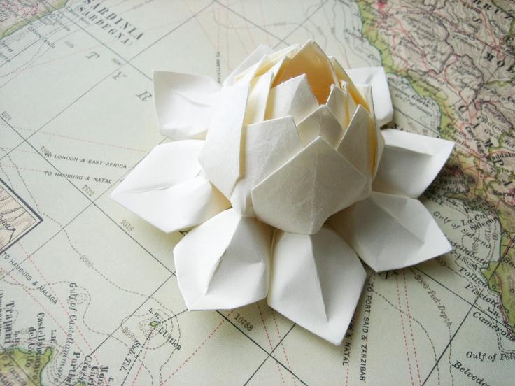 Lotus Flower - Handmade Origami Paper Flower