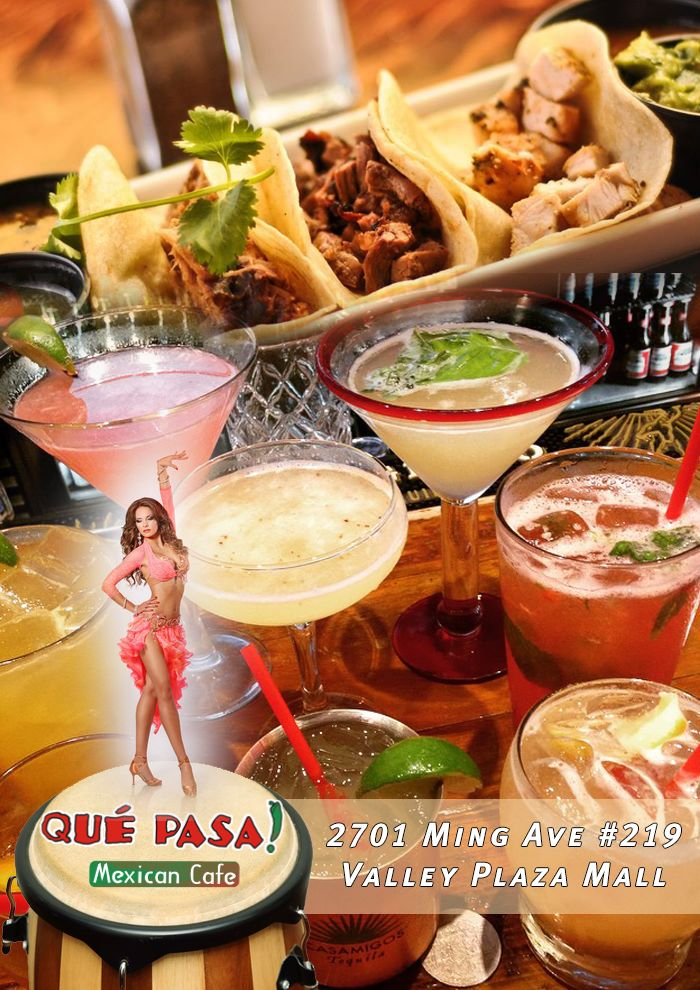 Join us for an exciting night! December 13th 7-11 PM at #QuePasaCafe Valley Plaza Mall location. 2701 Ming Ave #219 – Valley Plaza Mall Salsa Solution Ensemble, DJ Jamito, $6 Menu & Specialty Drinks.  Sun-Daze… Salsa, Bachata, Merengue & Cumbia. Live Latin Music! Join us! http://www.qpmexicancafe.com/locations.html