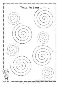 spiral tracing worksheets. Help your child practice and master writing by tracing shapes, a swirl will help with different styles instead of straight lines