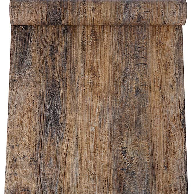 Blooming Wall Peel Stick Wood Panel Prepasted Wallpaper Wallcoverings For Wall 23 6in X 9 84ft Hhm02 Peel And Stick Wood Faux Wood Wall Faux Wood Beams