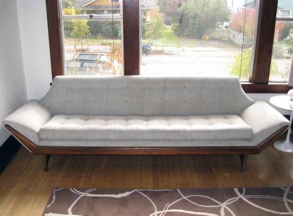 Adrian Pearsall Mid Century Walnut Sofa 1960s Era
