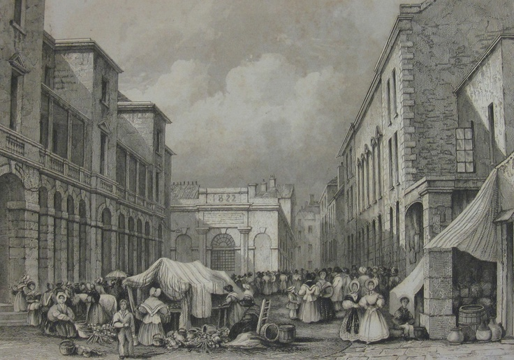 Market Square,1840. Drawn by Robert Mudie.