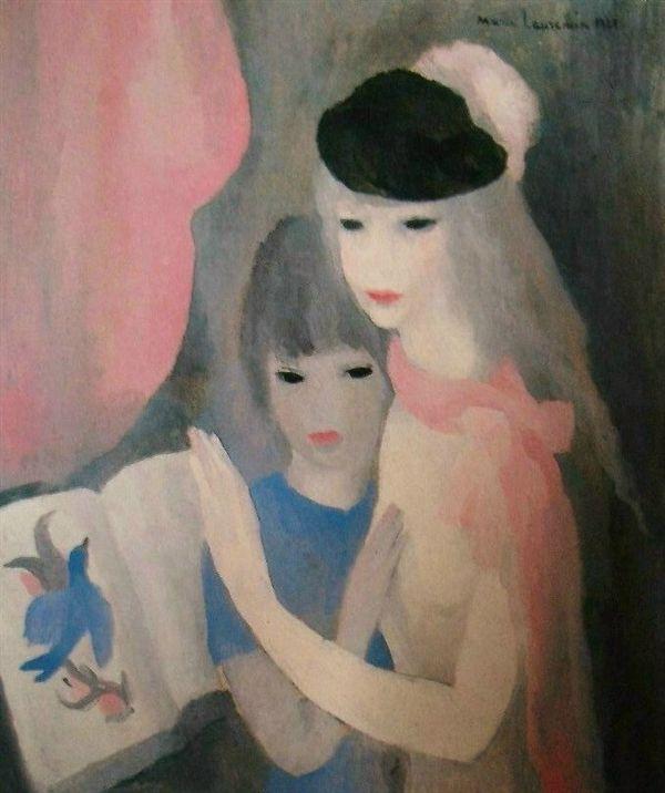 マリー・ローランサン 「二人の少女」