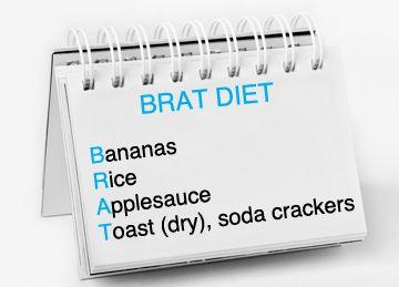 BRAT diet-- for the stomach flu